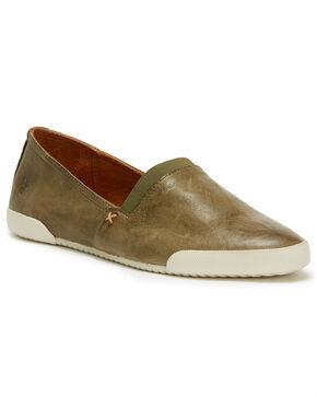 Frye Women's Forest Green Melanie Slip On Shoes , Dark Green, hi-res
