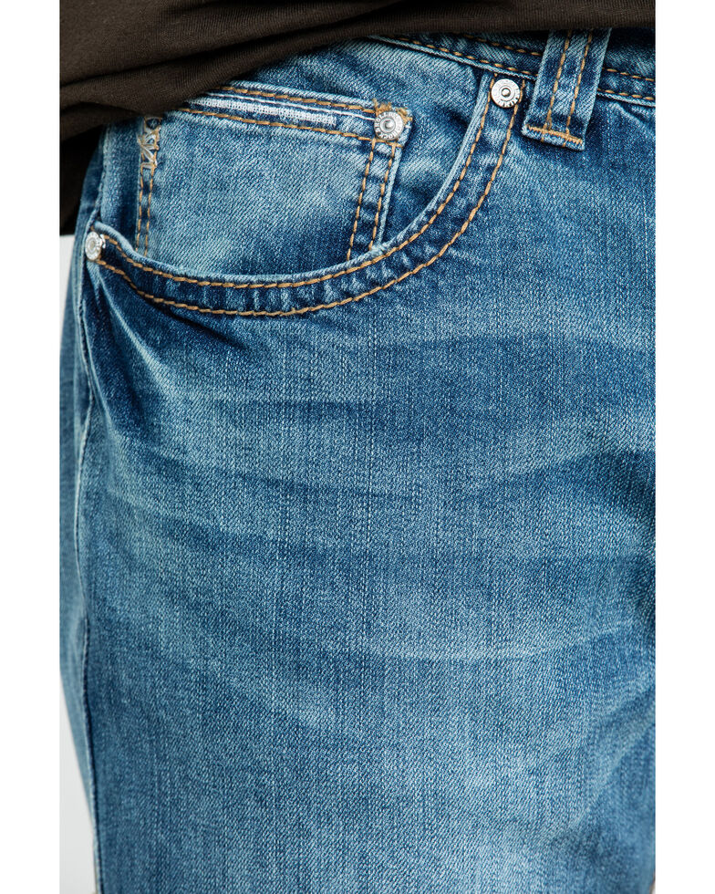 Rock & Roll Denim Men's Pistol Vintage Med Stretch Straight Jeans , Blue, hi-res
