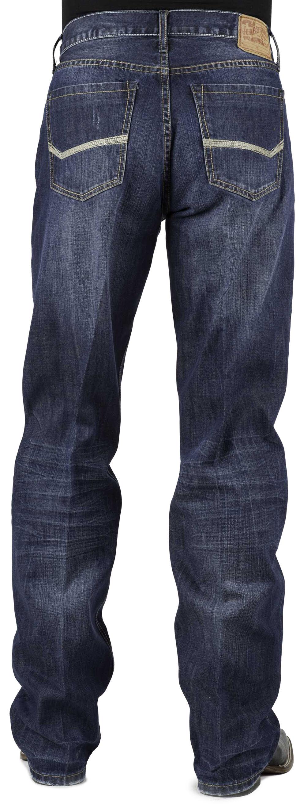 Stetson Modern Fit Bold Stitched Jeans, Denim, hi-res