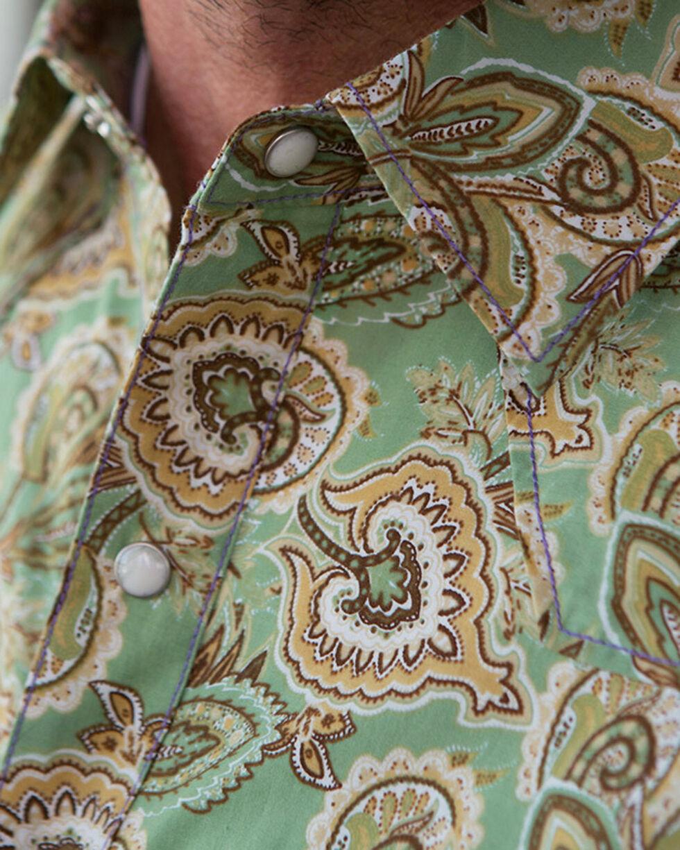 Ryan Michael Men's Spruce Paisley Print Shirt , Green, hi-res