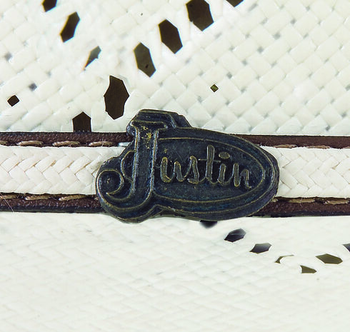 Justin Bent Rail Sky Fall Straw Cowboy Hat , Ivory, hi-res