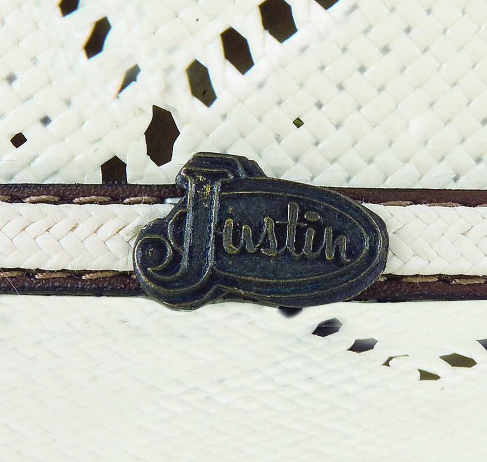 Justin Bent Rail Sky Fall Straw Cowboy Hat , Ivory, hi-res