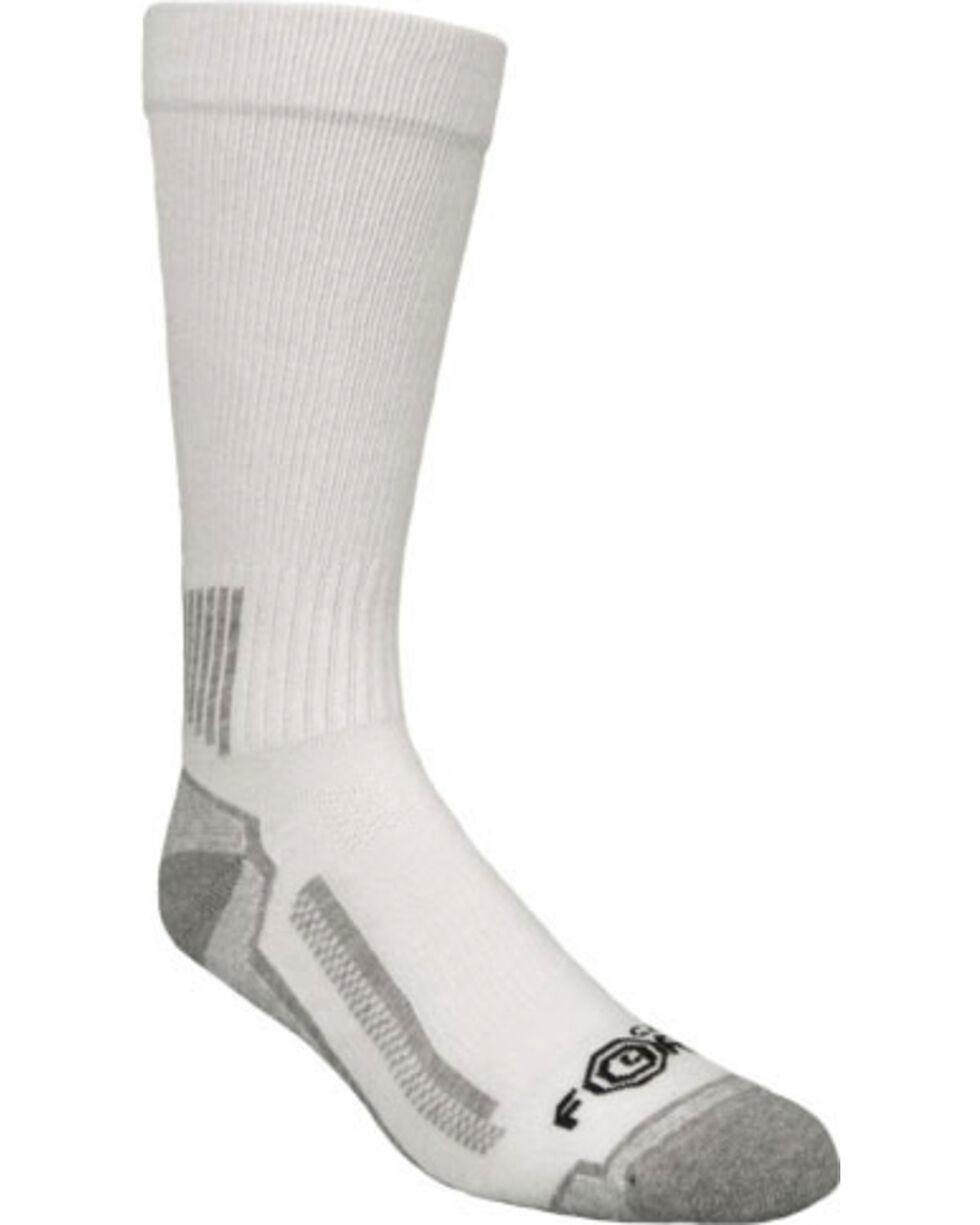 Carhartt Force® White Performance Work Crew Socks - 3 Pack, White, hi-res