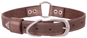 "Browning Brown Medium Leather Dog Collar - Medium 14 - 20"", Brown, hi-res"