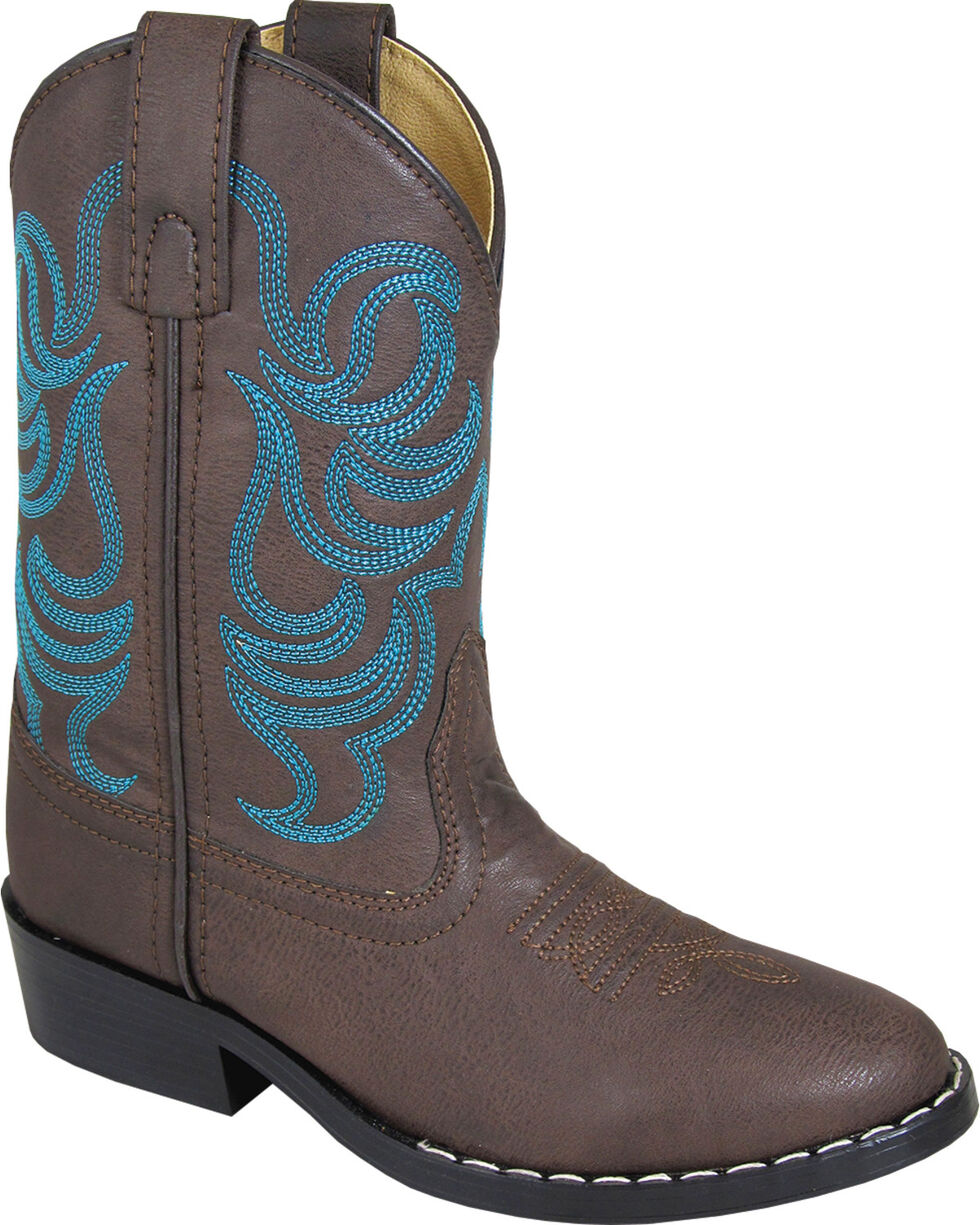 Smoky Mountain Youth Boys' Monterey Western Boot - Round Toe, Brown, hi-res