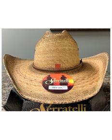 Serratelli Natrural Phoenix Xtra Toasted Palm Straw Western Hat , Natural, hi-res