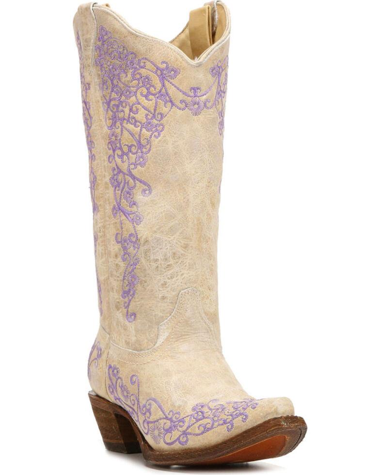 Corral Mujer Sheplers Blanco Cowhide CowMujer botas Snip Toe Sheplers Mujer 975ab3