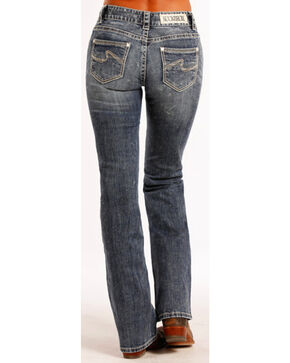 Rock & Roll Cowgirl Women's Indigo Mid-Rise Jeans - Boot Cut , Indigo, hi-res