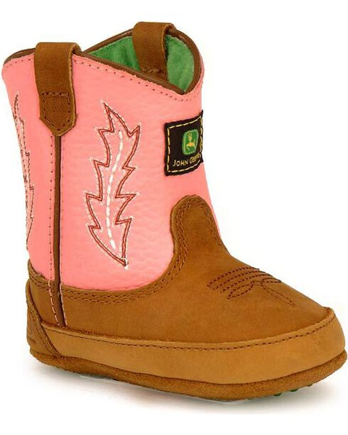 John Deere Infants' Johnny Poppers Boots, Pink, hi-res