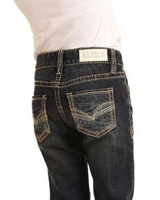 Rock & Roll Denim Girls' Dark Stretch Bootcut Jeans , Blue, hi-res