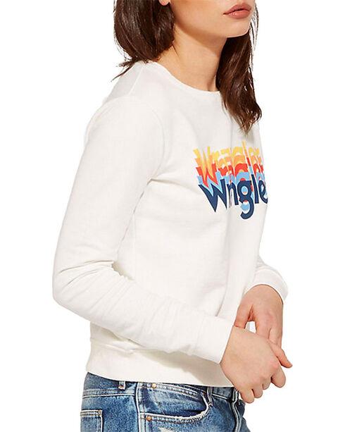 Wrangler Women's 70th Anniversary Rainbow Logo Sweatshirt, White, hi-res
