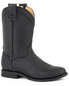 Roper Men's Lock & Load Western Boots - Round Toe, Black, hi-res