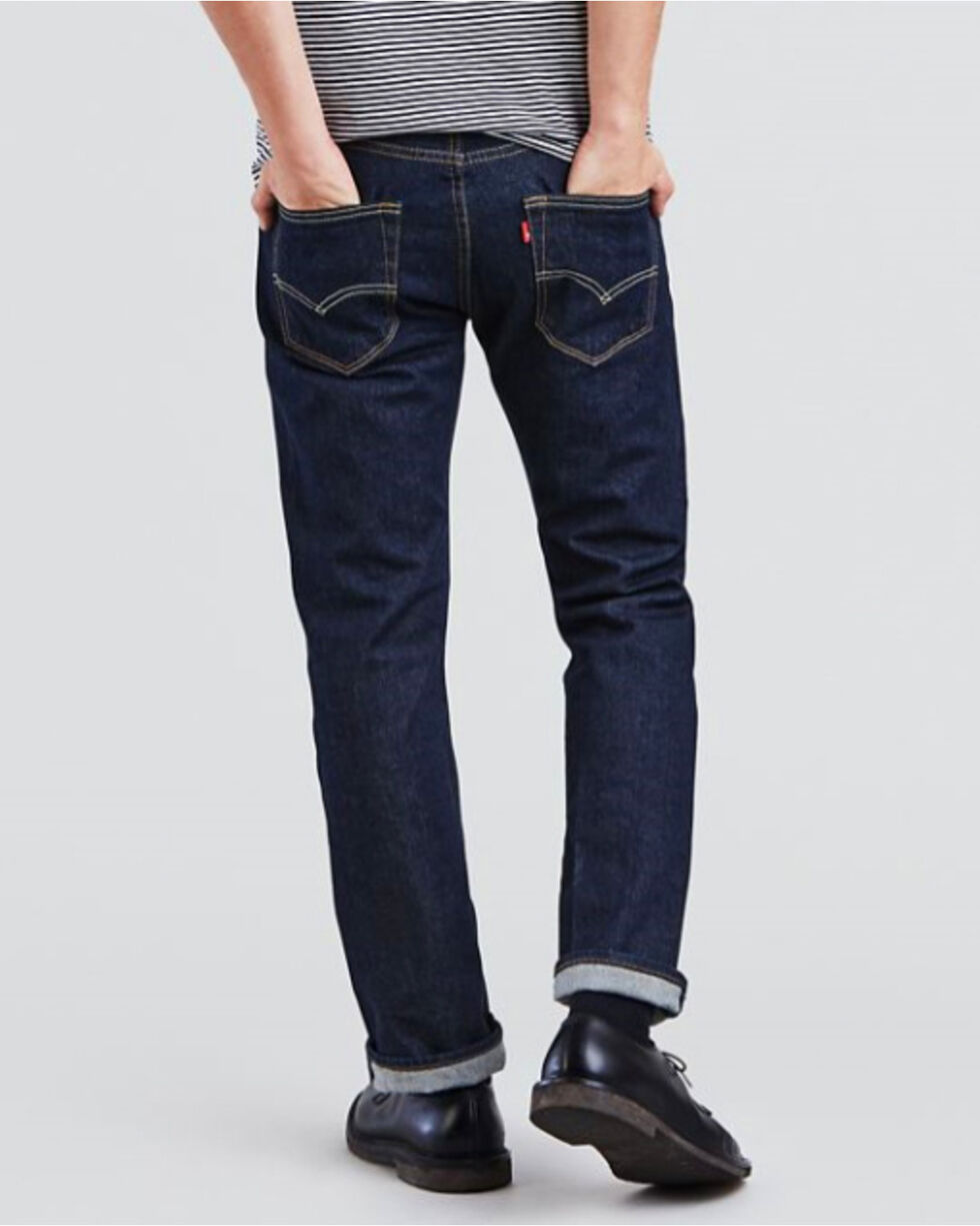 Levi's Men's 501 Original Fit Stretch Straight Leg Jeans , Indigo, hi-res