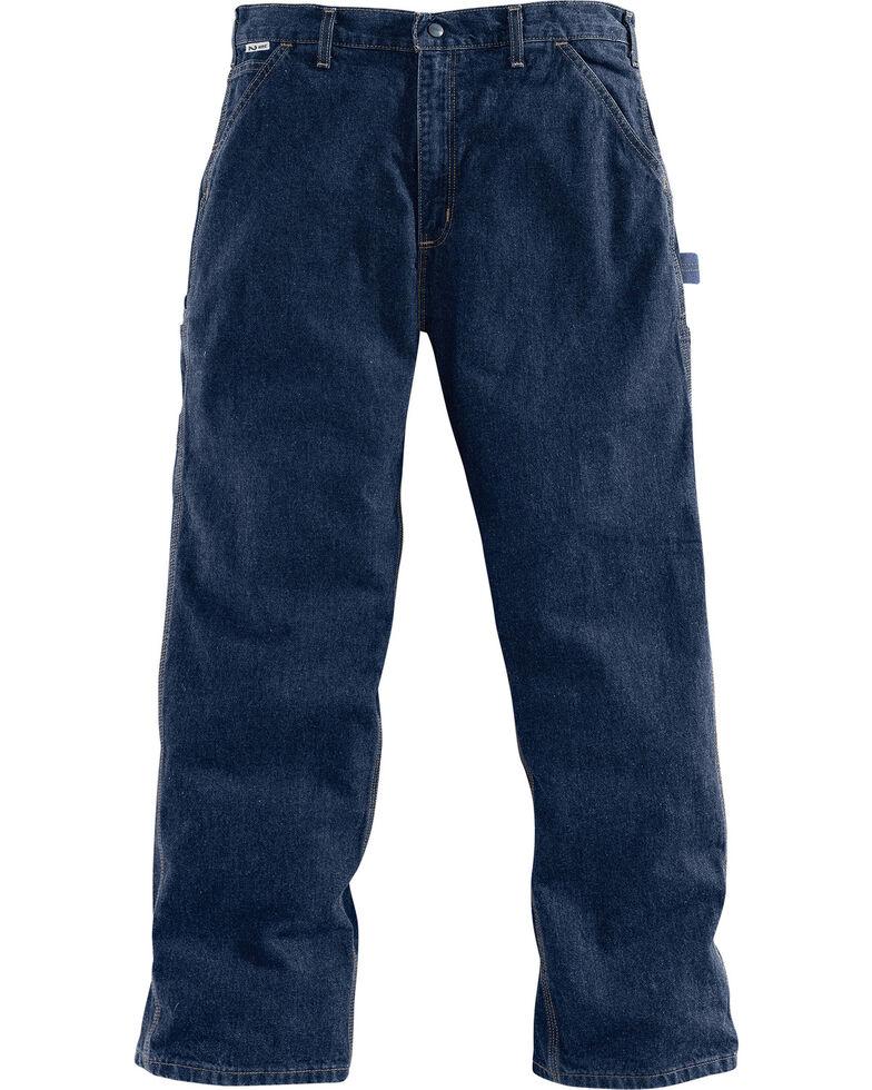 Carhartt Men's Dark Blue Flame-Resistant Denim Dungarees , Dark Blue, hi-res