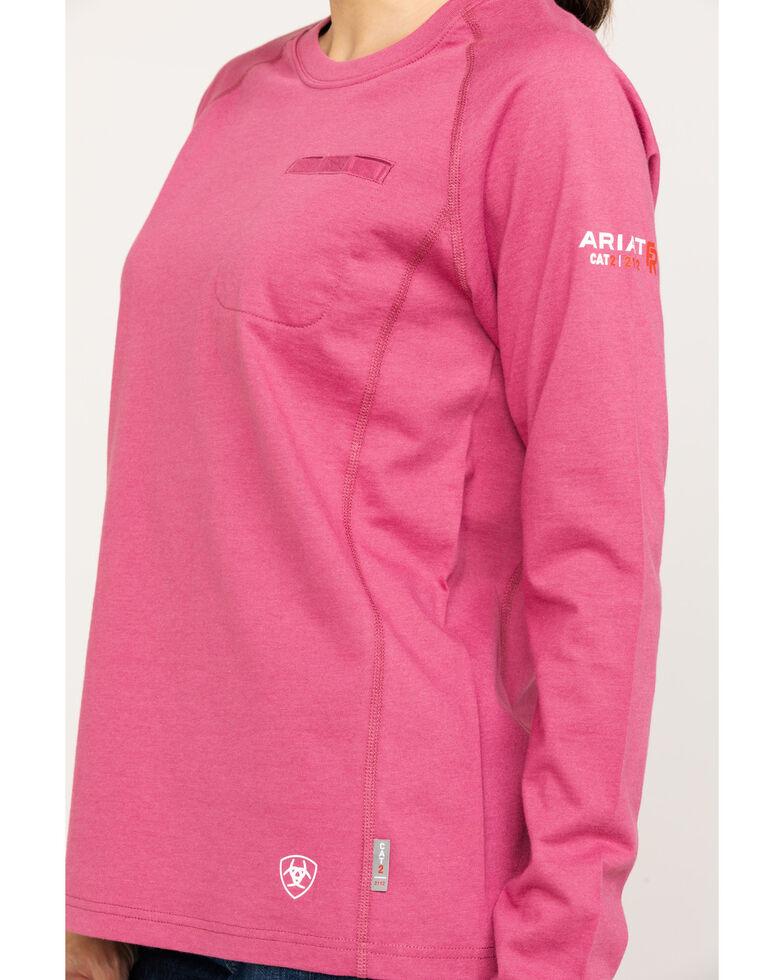 ed4fa83c Ariat Women's Rose Violet FR Air Crew Long Sleeve Work Shirt