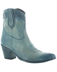 Old Gringo Women's Nikki Bell Fashion Booties - Pointed Toe, Blue, hi-res