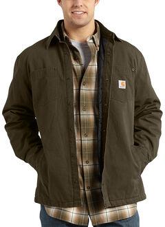 Carhartt Chatfield Ripstop Shirt Jacket - Big & Tall, Dark Brown, hi-res