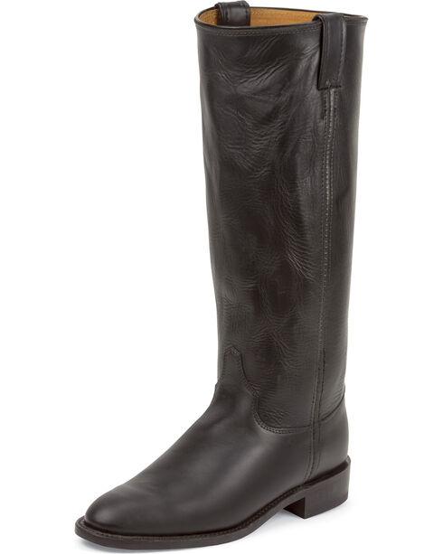 Chippewa Women's Whirlwind Original Roper Boots - Round Toe, Black, hi-res