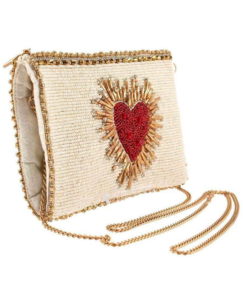 Mary Frances Women's Heart Burst Beaded Crossbody Phone Bag, Ivory, hi-res