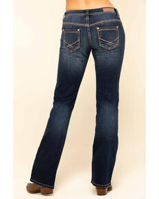 Rock & Roll Denim Women's Dark Riding Copper Bootcut Jeans, Blue, hi-res
