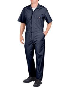 Dickies Short Sleeve Work Coveralls, Navy, hi-res