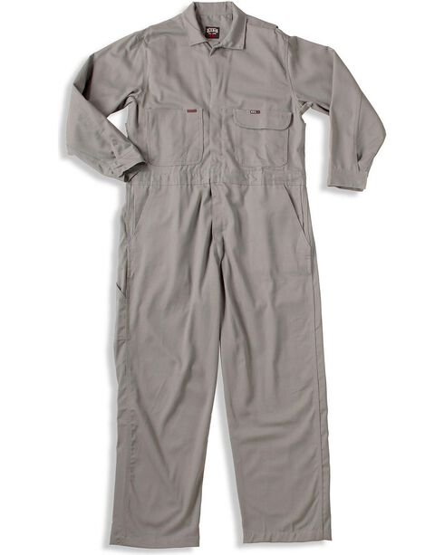 Key Industries Flame Resistant Coveralls, Grey, hi-res