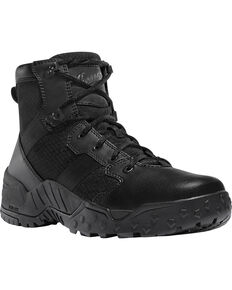 "Danner Men's Black Scorch Side-Zip 6"" Tactical Boots - Round Toe , Black, hi-res"