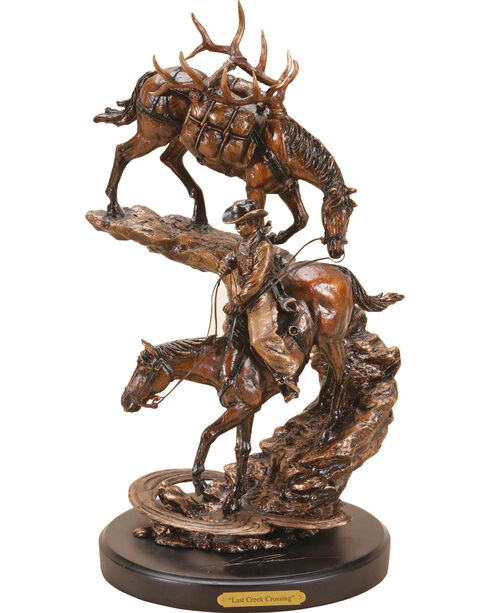 Big Sky Carvers Last Creek Crossing Sculpture, Bronze, hi-res