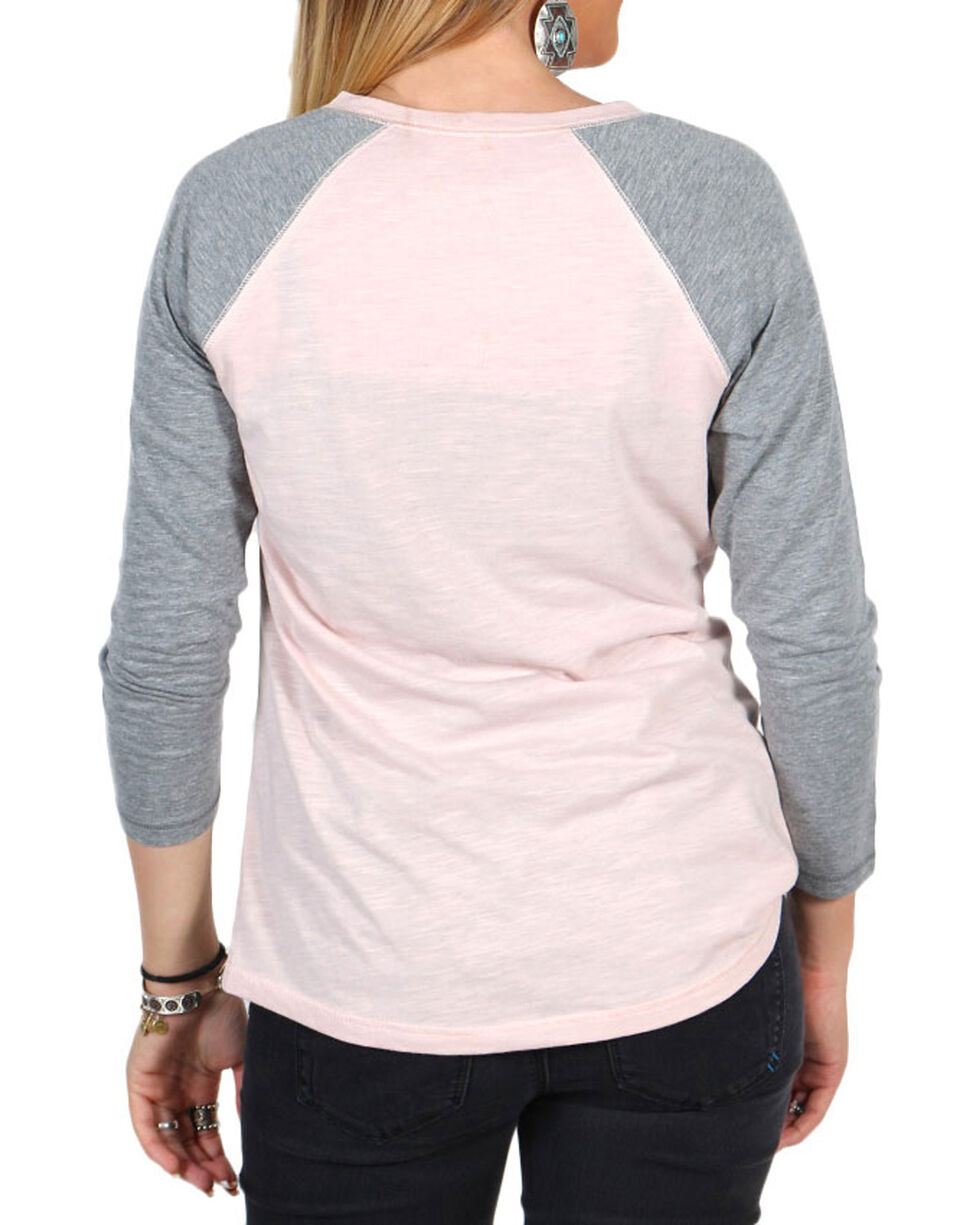 Shyanne Women's American Tour Baseball Graphic Tee, Pink, hi-res