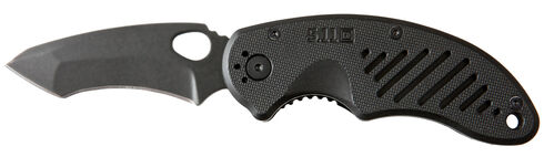 5.11 Tactical BTC Recurve Tanto Folder Knife (Clamcard), Black, hi-res