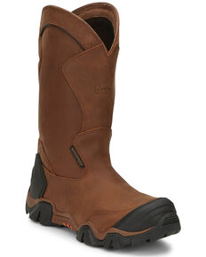 "Chippewa Men's Atlas 12"" Waterproof Work Boots - Composite Toe, Brown, hi-res"