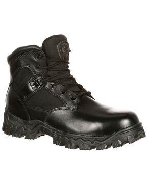 Rocky Women's AlphaForce Waterproof Duty Boots - Round Toe, Black, hi-res