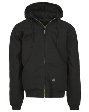 Berne Duck Original Hooded Jacket, Black, hi-res