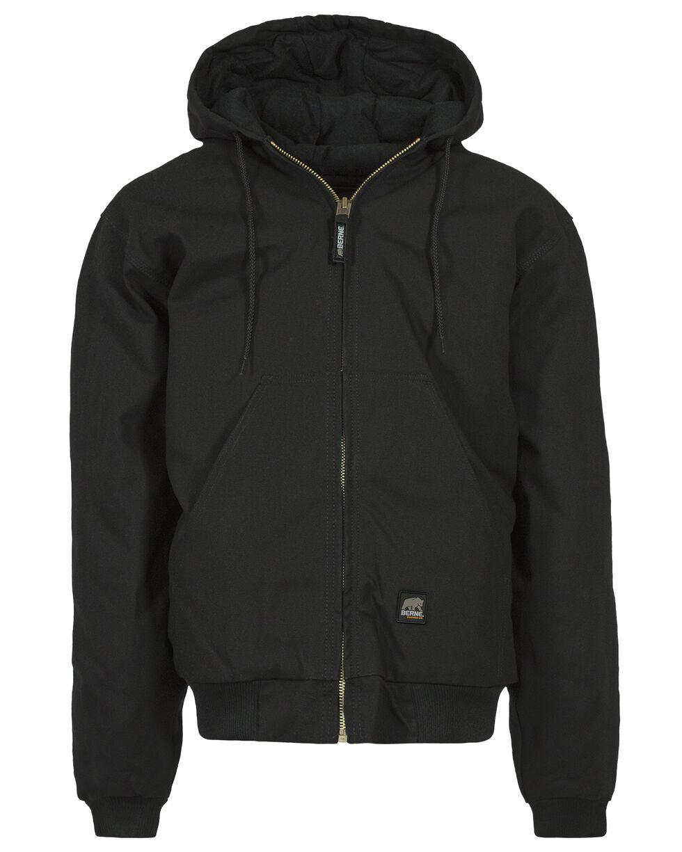 Berne Duck Original Hooded Jacket - XLT and 2XT, Black, hi-res
