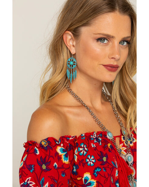 Shyanne Women's Feather Daydream Earrings, Turquoise, hi-res