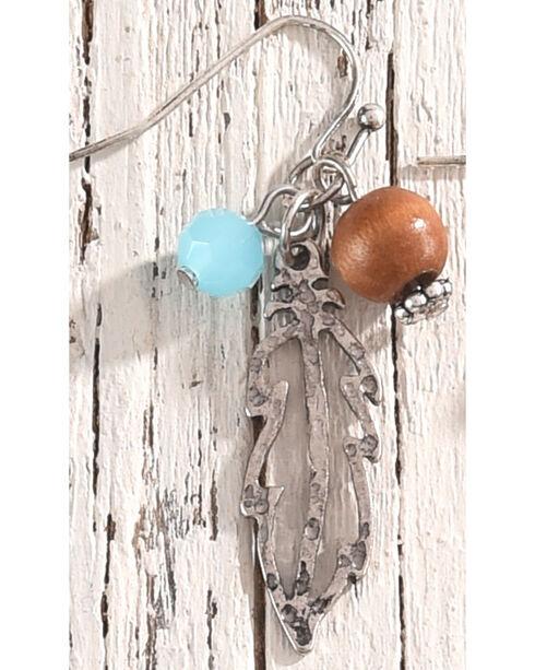 Shyanne Women's Feather Bead Charm Earrings, Silver, hi-res