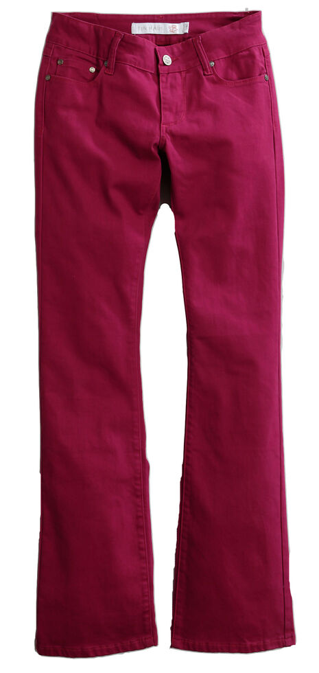 8e984e10062 Zoomed Image Tin Haul Women's Dolly Celebrity Colored Denim Bootcut Jeans,  Purple, hi-res