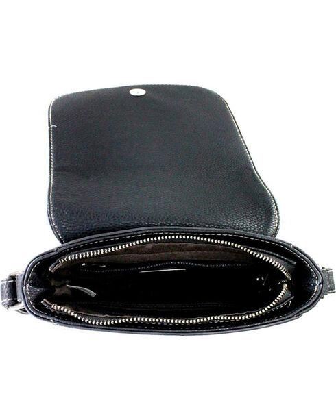 Montana West Trinity Ranch Black Genuine Hair-On Saddle Bag , Black, hi-res