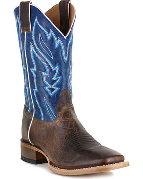 Cody James Men's Vaquero Blue Fire Western Boots - Square Toe, Brown, hi-res