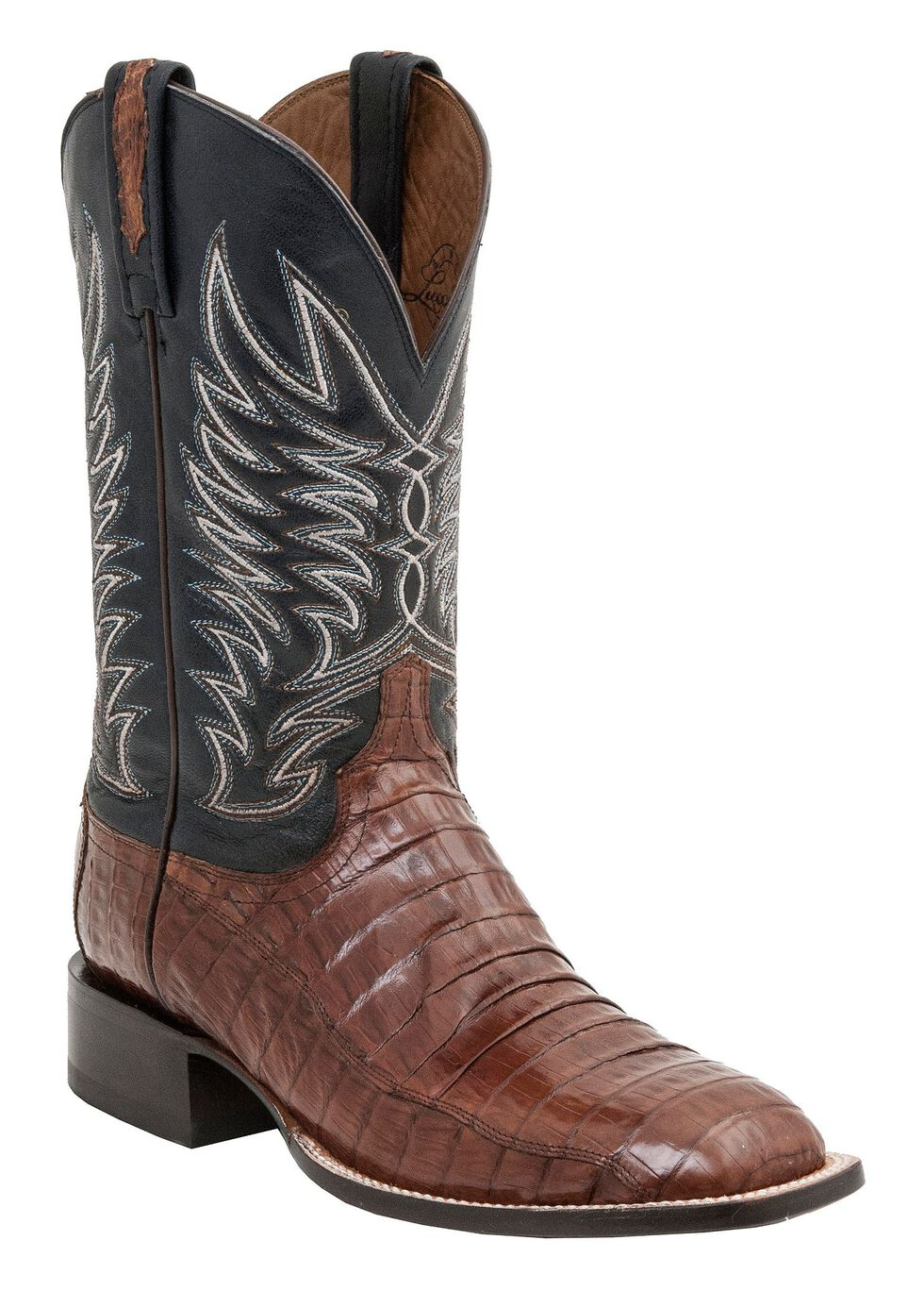 Lucchese 1883 Logan Caiman Belly Cowboy Boots - Crepe Sole, Sienna, hi-res
