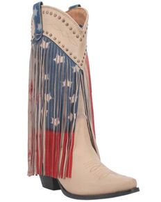 Dingo Women's Born N' USA Western Boots - Snip Toe, Sand, hi-res