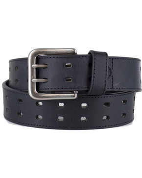 American Worker Men's Double Buckle Belt, Black, hi-res