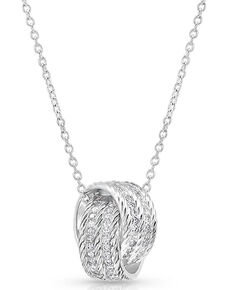 Montana Silversmiths Women's Forever Together Ring Necklace, Silver, hi-res