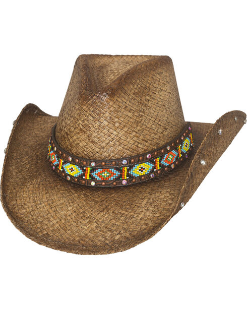 Bullhide Love Myself Straw Cowboy Hat, Brown, hi-res
