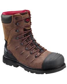 """Avenger Men's 8"""" Waterproof Work Boots - Composite Toe, Brown, hi-res"""