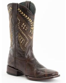 Ferrini Men's Jeese Brown Alligator Print Western Boots - Wide Square Toe, Brown, hi-res