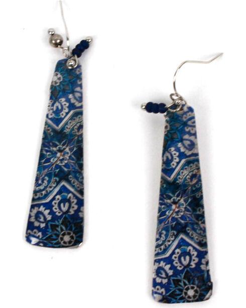 Treska Women's Tile Fragment Earrings, Blue, hi-res