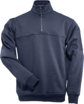 5.11 Tactical Quarter Zip Job Shirt - Tall Sizes (2XT - 5XT), Navy, hi-res