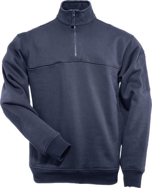 5.11 Tactical Quarter Zip Job Shirt - Tall Sizes (2XT - 5XT), Navy, hi-res