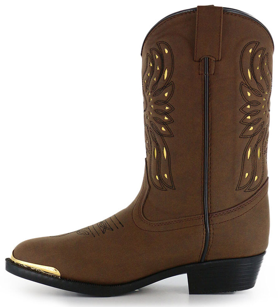 Cody James Youth Boys' Phoenix Western Boots - Medium Toe, Brown, hi-res